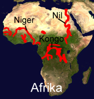 Süßwasserkugelfischvorkommen in Afrika